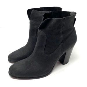 Vince Camuto Feina Black Leather Booties Size 7.5